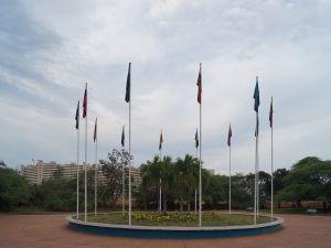 Plaza de las banderas, in Vereda del Lago, (Maracaibo, Venezuela)