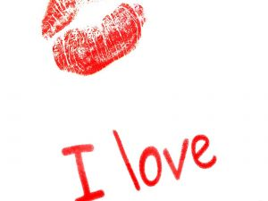 """Kiss and an """"I love"""""""