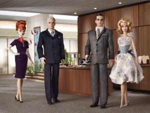 "Dolls of some characters from the series ""Mad Men"""