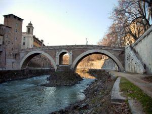 Fabricius Bridge over the Tiber River (Rome)