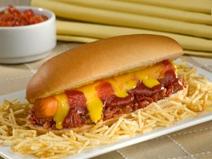 Hot dog with potato straws