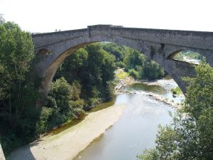 Devil's Bridge over the River Tec, Ceret, France