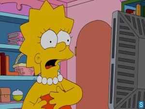 Lisa Simpson scared