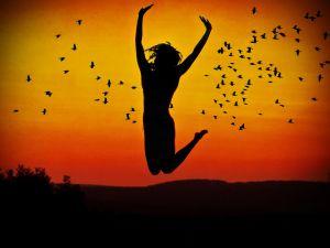 Jumping at sunset