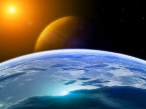 The Sun illuminating the planets