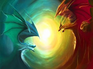Confronted dragons