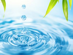 Three water drops