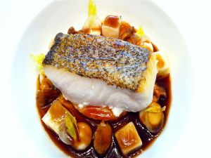 Fillet of fish with garnish