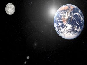 The Earth, Sun and Moon