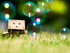 Danbo and the bubbles