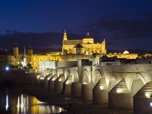 Roman bridge next to the river Guadalquivir (Spain)