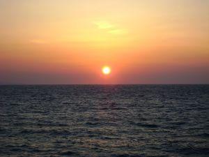 Sunset in Mykonos (Greece)