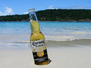 A Corona beer on the beach
