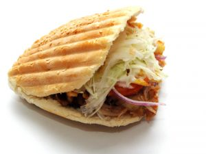 Kebab in pita bread