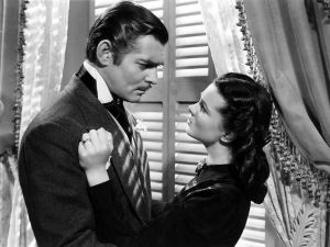 "Vivien Leigh and Clark Gable in ""Gone with the wind"""
