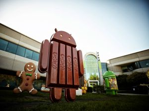 The Android KitKat Mascot, and other earlier versions