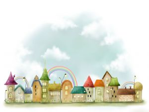 Village of the rainbow