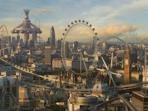 A futuristic London