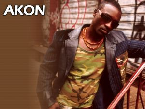 The Senegalese singer of  hip hop Akon