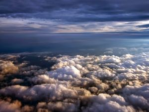 A sea of ​​clouds