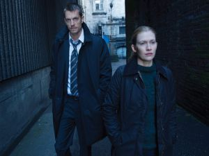 "Linden and Holder, workmates in ""The Killing"""