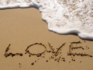 Love on the sand of the beach