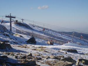 Ski slopes in Valdesquí (Sierra de Guadarrama, Spain)
