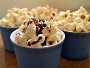 Bowls with popcorn