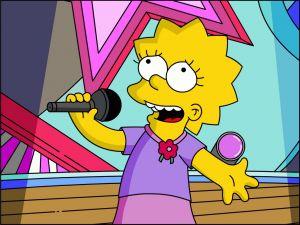 Lisa Simpson singing