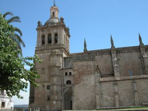 Exterior view of the Cathedral of Coria