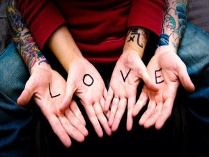 Love on the palms of the hands