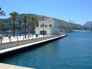 Old Yacht Club in the Port of Cartagena (Murcia)