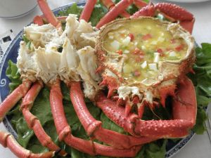 A cooked spider-crab