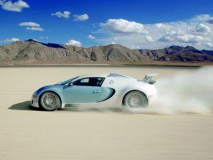 Bugatti Veyron crossing the desert