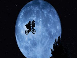 E.T. flying in bicycle