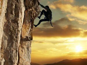 Climbing a vertical wall