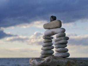 Arc of stones