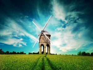 Windmill in a lonely place