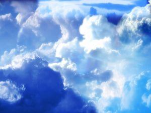 Bluish clouds