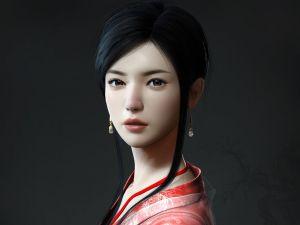 3D Japanese girl