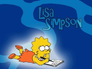 Lisa Simpson writing