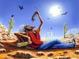 Eddie in the desert