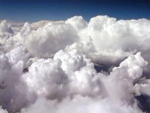 Cottony clouds