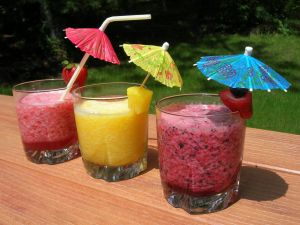 Fruit juices with umbrella