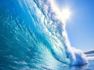 Wave blocking the sun