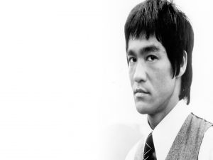The gaze of Bruce Lee