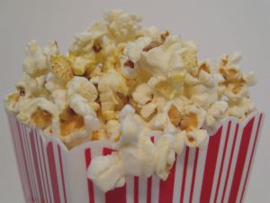 Box with butter popcorn