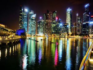 The Singapore night