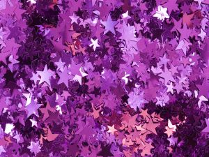 Purple and pink stars