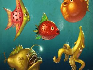 Fruit-shaped fishes